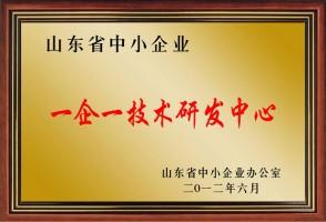 山東省一企一技術研發中心證明